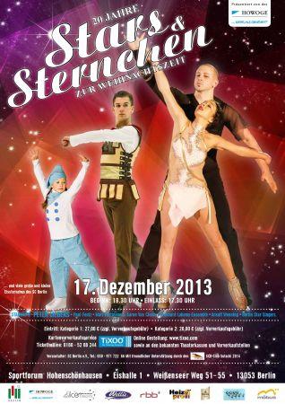 Plakat Stars und Sternchen Schaulaufen