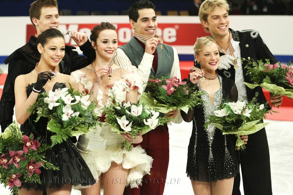 2 Elena ILINYKH-Nikita KATSALAPOV (RUS) ,1 Anna CAPPELLINI-Luca LANOTTE  (ITA) , 3 Penny COOMES-Nicholas BUCKLAND (GBR
