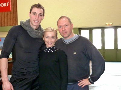 Aliona Savchenko und Bruno Massot mit Alexander König