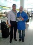 Robin Cousins am Flughafen München