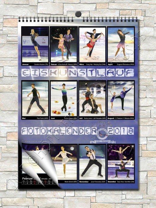 Eiskunstlauf -  Wandkalender 2018