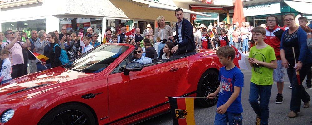 Empfang der Olympiasieger in Oberstdorf