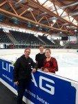 Eistanztraining des deutschen Paares Matthaei/Pisterer mit Trainer René Sachtler-Lohse