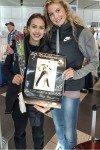 Alina Zagitova mit Trainerin E. Tutberize
