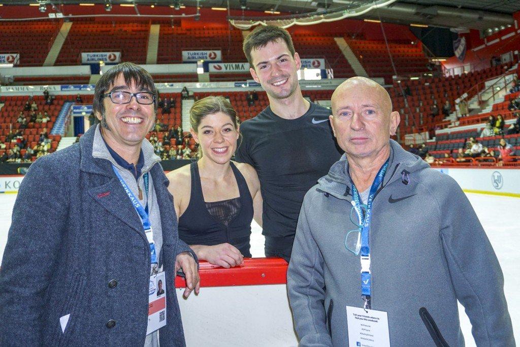 M. Ziegler-S. Kiefer mit Trainer Jean F. Ballester und Knut Schubert