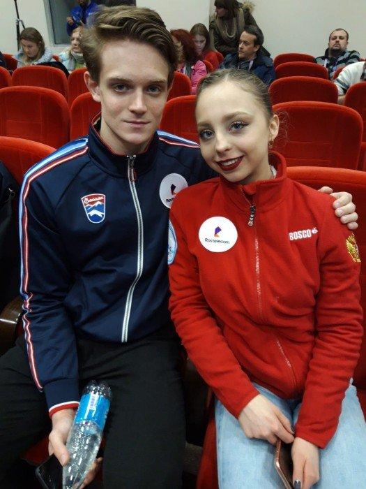 Derzeit auf Platz vier ein ganz junges Paar aus Russland Boikova / Kozlovskii
